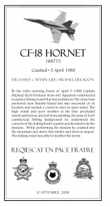 Hornet Plaque