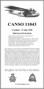 Canso 11043 plaque