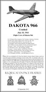 Dakota 966 Plaque