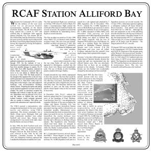 RCAF Alliford Bay plaque