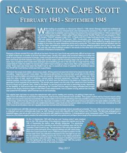 Cape Scott plaque
