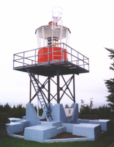 Lighthouse on the foundation of RCAF Station Cape Scott radar unit