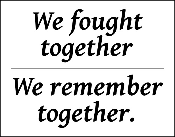 We fought together